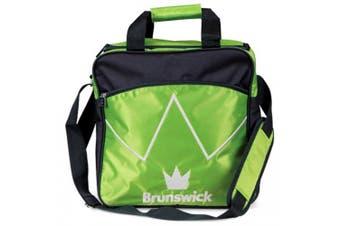 (Lime/Black) - Brunswick Blitz Single Tote Bowling Bag - Many Colours Available
