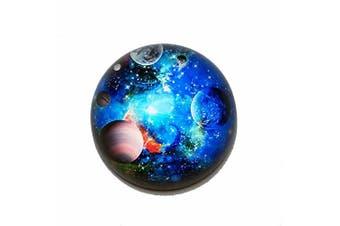 (Galaxy) - Waltz & F Crystal Galaxy Paperweight Galss Globe Hemisphere Home Office Table Decoration
