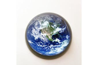(Blue Earth) - Waltz & F Crystal Blue Earth Paperweight Galss Globe Hemisphere Home Office Table Decoration