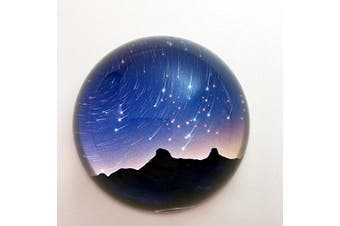 (Meteor Shower) - Waltz & F Crystal Meteor Shower Dome Paperweight Galss Globe Hemisphere Home Office Table Decoration
