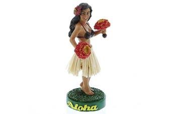 Hawaiian Uli Uli Hula Girl Miniature Dashboard Doll