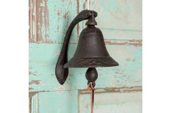 "CTW Home Collection Cast Iron Logan Dinner Bell With Bracket Dinner Bell - Feel The Vibe Of Traditional Family Meals And Gatherings. Made Of Heavy Cast Iron - Measures 4""W X 5½""D X 6""T"