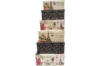 (Paris) - Alef Elegant Decorative Themed Extra Large Nesting Gift Boxes -6 Boxes- Nesting Boxes Beautifully Themed and Decorated - Perfect for Gifts or Simple Decoration Around the House! (Paris)