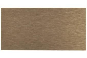 (32, Brushed Bronze) - Art3d 32-Piece Peel-N-Stick Backsplash Long Grain Metal Tile, 7.6cm x 15cm , Brushed Copper