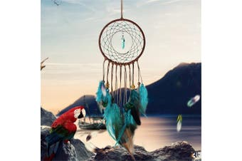 (Blue) - Dream Catcher ~ Handmade Traditional Feather Wall Hanging Home Decoration Decor Ornament Craft