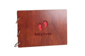 (10*8 baby love) - Self-Adhesive My Adventure Photo Album Retro Album Anniversary Scrapbook DIY Anniversary Scrapbook Album,Photo Album,Wedding Album(10×20cm baby love)