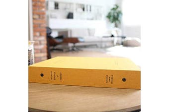 """(Mustard) - 3-Ring Binder Albums, Self Adhesive Photo Album Book Scrapbooking Scrapbook Magnetic Album , Hardcover, 50 Pages Holds 3X5, 4X6, 5X7, 6X8 photos, 9.05""""X10.82"""" (Mustard)"""