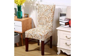 (1, Style 23) - Jiuhong Stretch Removable Washable Short Dining Chair Protector Cover Slipcover, Style 23, 1 Pack
