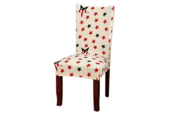 (1, Style 28) - Jiuhong Stretch Removable Washable Short Dining Chair Protector Cover Slipcover, Style 28, 1 Pack