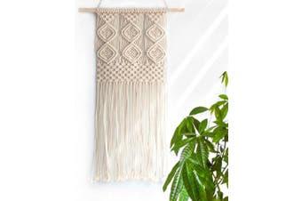 (Pattern 3) - Handmade Macrame Wall Hanging Woven Tapestry - BOHO Chic Home Art Decor - Bohemian Apartment Studio Dorm Decorative Interior Wall Decor - Living Room Bedroom Nursery Craft Decorations, 30cm W x 60cm L
