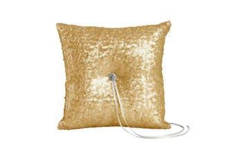 (RING PILLOW, MATTE GOLD) - Ivy Lane Design Elsa Matte Sequin Ring Pillow, Gold