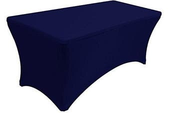 Banquet Tables Pro Navy Blue 1.2m 30x48 Rectangular Fitted Stretch Spandex Tablecloth