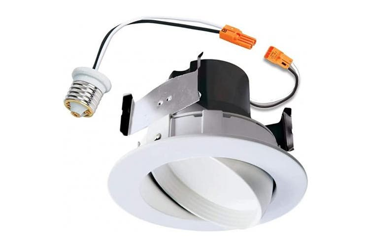 (1 Pack) - Halo Recessed RA406930WHR 10cm LED Adjustable Gimbal