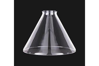 B & P Lamp Clear Glass Deep Cone Shade (18cm )