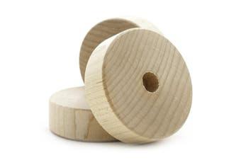 (Bag of 20) - 5.1cm Flat Wooden Toy Wheel - Bag of 20