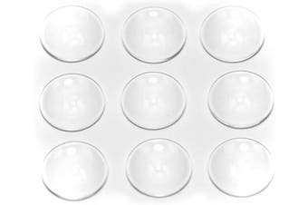 (18mm-50pcs) - ALL in ONE Flat Back Clear Glass Dome Cabochons Clear Magnifying Cabs Non-calibrated for DIY Photo Pendant Craft Jewellery Making (18mm-50pcs)
