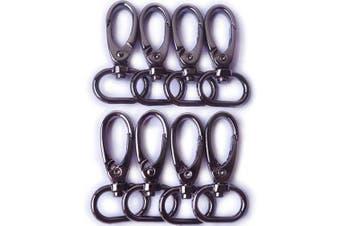 (Black Gun) - Bobeey 8pcs Metal Swivel Clasps Buckles for Lanyard,Purse Lobster Clasps,Lanyard Snap Hook Lobster Claw Clasp Jewellery Findings BBC2 (Black Gun)