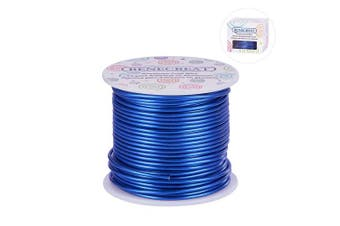 (12 Gauge, Blue) - BENECREAT 12 17 18 Guage 30m Aluminium Wire Anodized Jewellery Craft Making Beading Floral Coloured Aluminium Craft Wire