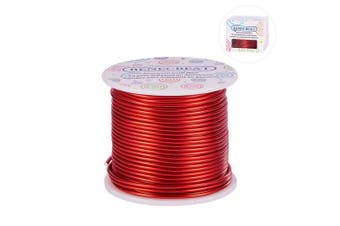 (12 Gauge, FireBrick) - BENECREAT 12 17 18 Guage 30m Aluminium Wire Anodized Jewellery Craft Making Beading Floral Coloured Aluminium Craft Wire