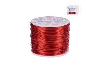 (17 Gauge, FireBrick) - BENECREAT 12 17 18 Guage 30m Aluminium Wire Anodized Jewellery Craft Making Beading Floral Coloured Aluminium Craft Wire