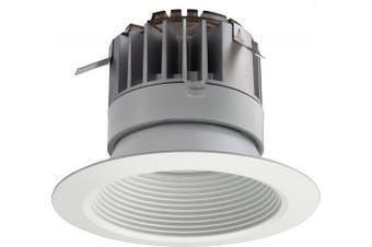 (10cm , 600 Lumens, 2700K- Warm White) - Lithonia Lighting 4BPMW LED 27K 90CRI M6 10cm White LED Recessed Baffle Module, 2700K