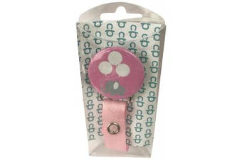 ClassyPaci Lil Elephant Pacifier Clip, Pink