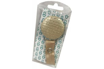 ClassyPaci Leather Weave Pacifier Clip, Beige