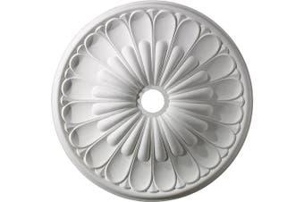 (White) - ELK Lighting M1009WH Melon Reed Ceiling Medallion 80cm in White