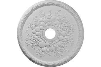 (Whole) - Ekena Millwork CM22GR 60cm OD x 9.2cm ID x 1.6cm P Grape Ceiling Medallion