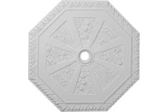 (Whole) - 70cm OD x 5.7cm ID x 2.9cm P Spring Octagonal Ceiling Medallion (Fits Canopies up to 7.6cm )