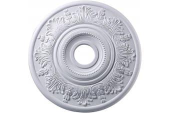 (White) - Elk M1004WH Laureldale Ceiling Medallion, 50cm , White Finish