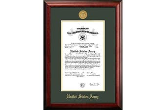 "(22cm  x 28cm ) - Campus Images ""Army Certificate"" Frame with Gold Medallion, 22cm x 28cm"