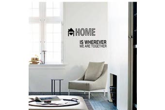 (Reference, Home is Wherever We Are Together) - BIBITIME Quotes and Sayings Home is wherever we are together Wall Decals Living Room Bedroom Vinyl Stickers Home Art Murals DIY 110cm x 15cm