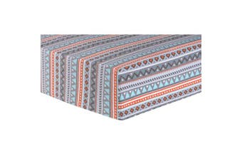 Trend Lab Aztec Deluxe Flannel Fitted Crib Sheet, Multi