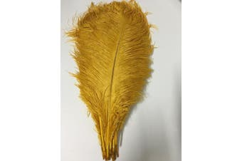 (gold) - ADAMAI 100PCS Natural 40cm - 45cm Ostrich Feathers Plume for Wedding Centrepieces Home Decoration (gold)