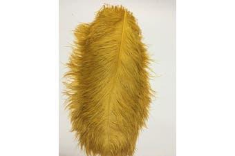 (gold) - ADAMAI 100PCS Natural 30cm - 35cm Ostrich Feathers Plume for Wedding Centrepieces Home Decoration (gold)