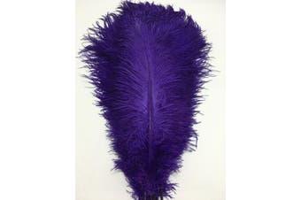 (purple) - ADAMAI 100PCS Natural 30cm - 35cm Ostrich Feathers Plume for Wedding Centrepieces Home Decoration (purple)