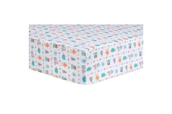 Trend Lab Forest Babies Fitted Crib Sheet, Multi