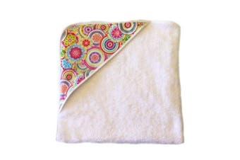 aBaby Infant Hooded Towel, Pink Mandela
