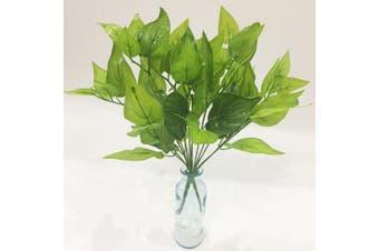 (Green Leaves) - Artificial Plants Artfen 2pcs Artificial Shrubs Leaves Faux Shrubs Simulation Greenery Bushes Artificial Flower Indoor Outside Home Garden Office Verandah Wedding Decor 38cm