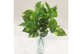 (Scindapsus Leaves) - Artificial Plants Artfen 2pcs Artificial Shrubs Leaves Faux Shrubs Simulation Greenery Bushes Artificial Flower Indoor Outside Home Garden Office Verandah Wedding Decor 38cm