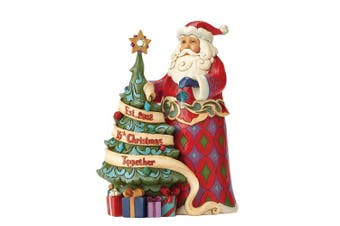 Jim Shore Heartwood Creek 15th Anniversary Santa with Tree Figurine 4059000 New