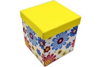 (Multicolor) - ALEF Elegant Decorative Themed Nesting Gift Boxes -6 Boxes- Nesting Boxes Beautifully Themed and Decorated - Perfect for Gifts or Simple Decoration Around The House! (Floral Petals)