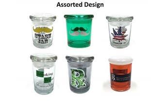 6x Assorted 90ml Storage Jar Pop Top Airtight Container & Smell Proof Jar Glass Odourless 1/8 Medical Jar
