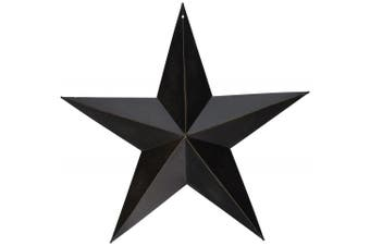 CWI Gifts Barn Star Wall Decor, 30cm , Antique Black