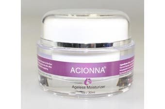 Acionna Ageless Moisturiser- Revitalising Moisturiser to Deeply Hydrate, Minimise Fine Lines and Wrinkles, Even Complexion 1oz 30ml
