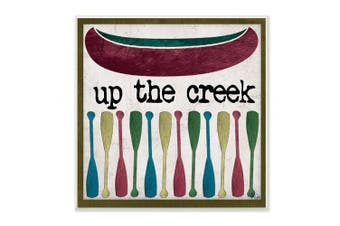 The Stupell Home Décor Collection up the Creek Canoe Paddles Wall Plaque Art