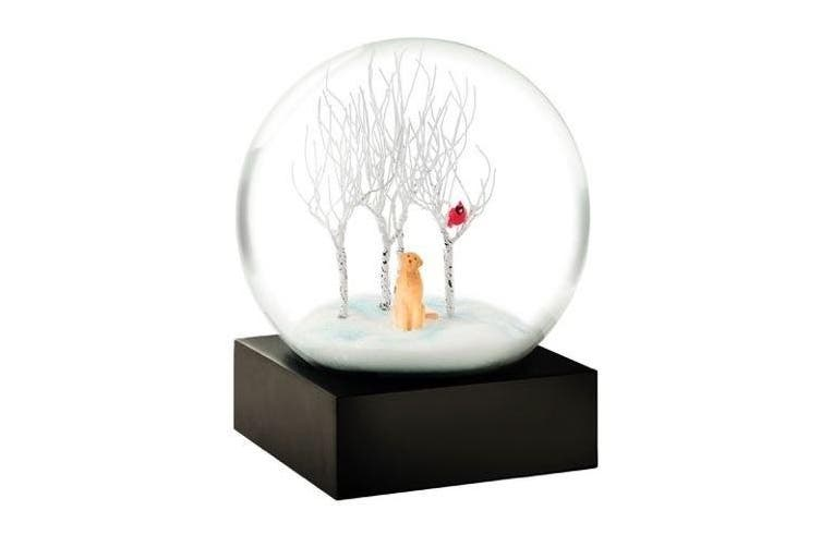 Lab in Woods Snow Globe by Cool Snow Globes
