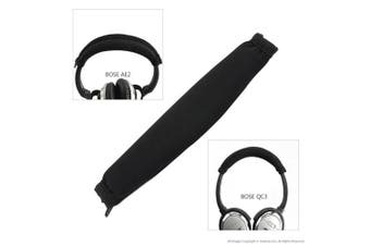 Geekria Earpad for Bose QC3, ON EAR, QuietComfort 3 Headphone Replacement Ear Pad + Headband Cover / Ear Cushion / Ear Cups / Ear Cover / Earpads Repair Parts / Headband Protector (Black)