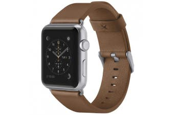 (Tan Brown, 38 mm Apple Watch) - Belkin Classic Leather Apple Watch Strap for 38 mm Apple Watch Series 1 and 2, Made from Genuine Italian Leather - Tan Brown